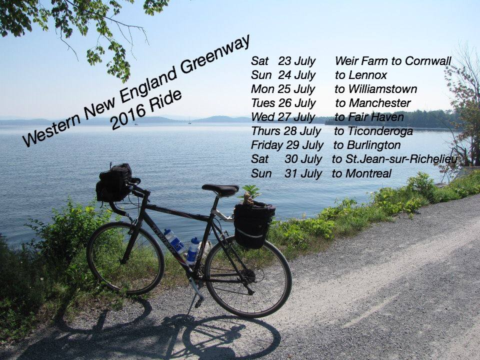 Western New England Greenway - Heritage Ride 2016 graphic